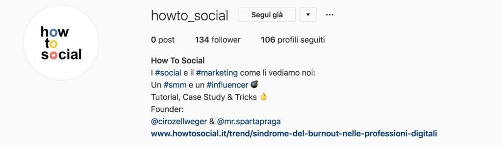 Scrivere una bio per aumentare i follower su Instagram